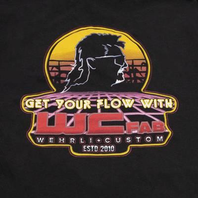 Wehrli Custom Fabrication - Men's T-Shirt - Get Your Flow Black - Image 3