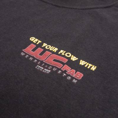 Wehrli Custom Fabrication - Men's T-Shirt - Get Your Flow Black - Image 4