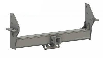 BHP 03-18 Dodge Short/Long Bed BEHIND Roll Pan 2 inch Hidden Receiver Hitch