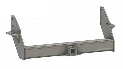 BHP 03-18 Dodge Short/Long Bed Stock Bumper 2 inch Receiver Hitch