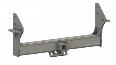 BHP 10-18 Dodge Short/Long Bed BELOW Roll Pan 2 inch Receiver Hitch