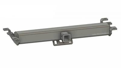 BHP 99-18 GM 1500 Short Box BEHIND Roll Pan 2 inch Hidden Receiver Hitch